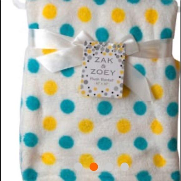 Other - 30 x 30 Polk a Dot Baby Blanket